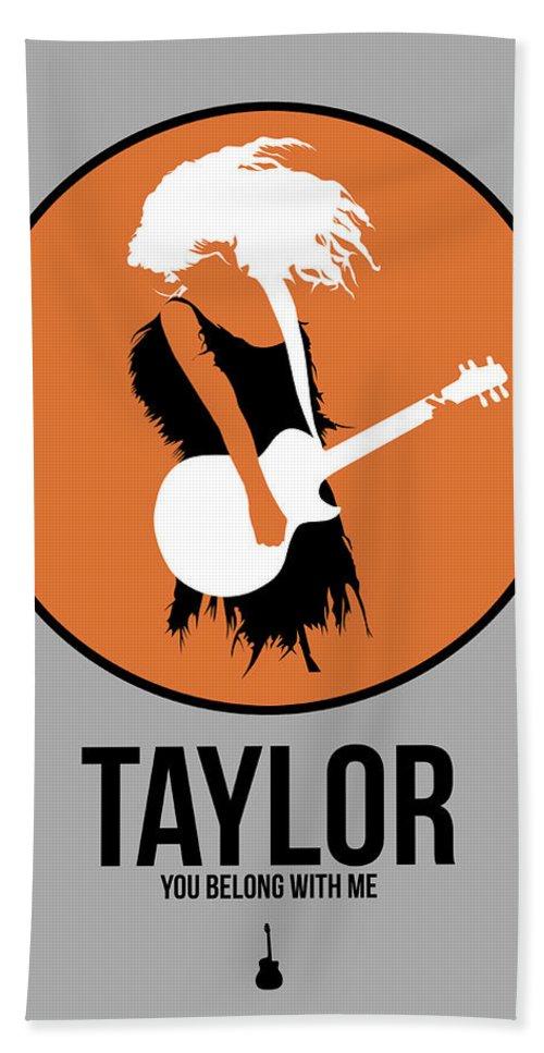 Bath Towel featuring the digital art Taylor Swift by Naxart Studio