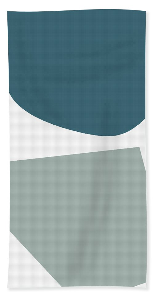 Abstract Hand Towel featuring the mixed media Terrazzo Abstract 2- Art By Linda Woods by Linda Woods