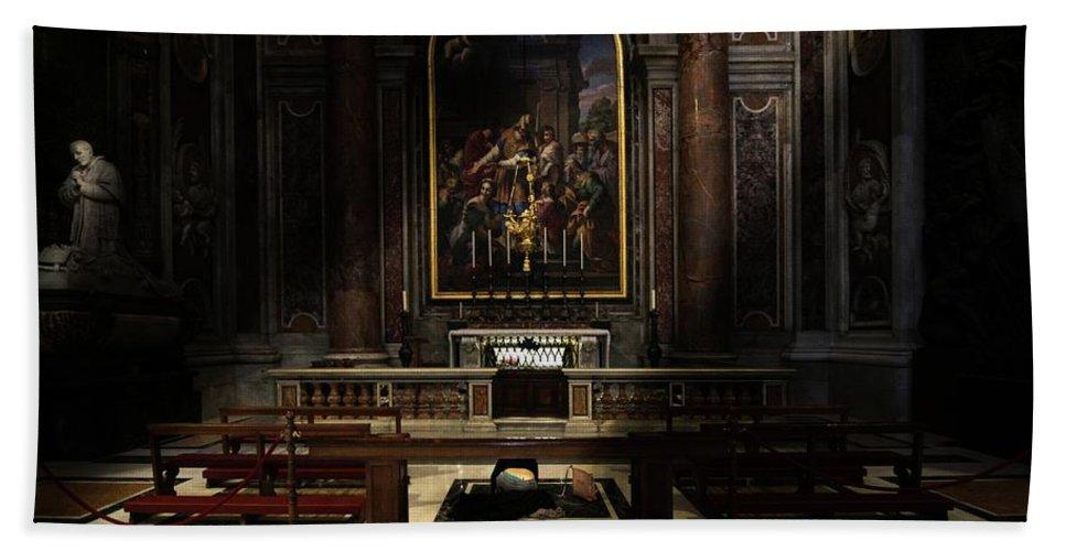 Vatican Bath Sheet featuring the photograph The Blessing by Ravi shankar Dutta