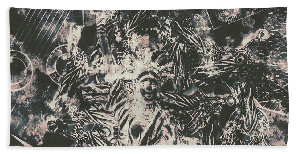 Apocalypse Bath Towel featuring the photograph The Fall Of False Idols by Jorgo Photography - Wall Art Gallery