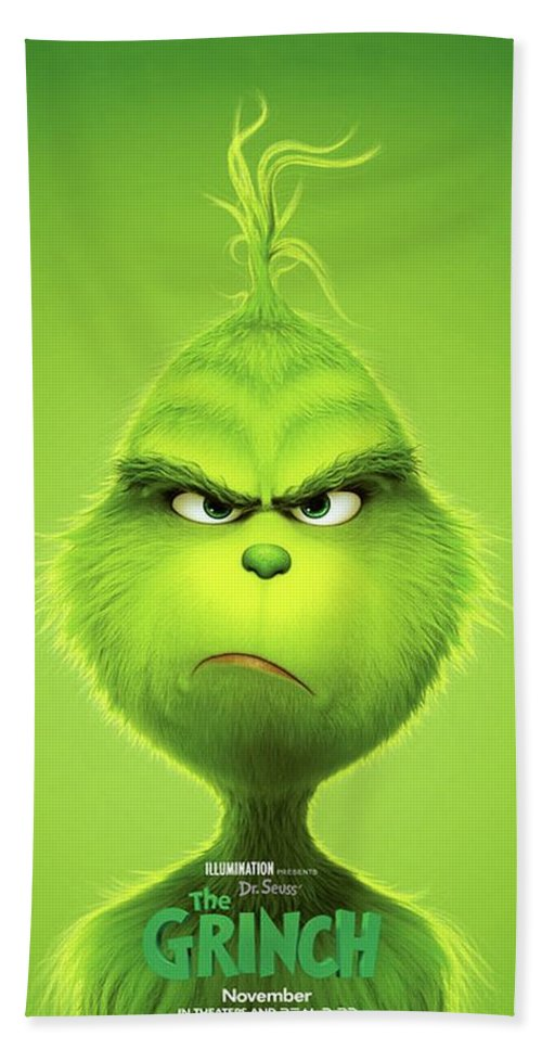 The Grinch 2018 B Bath Towel For Sale By Movie Poster Prints