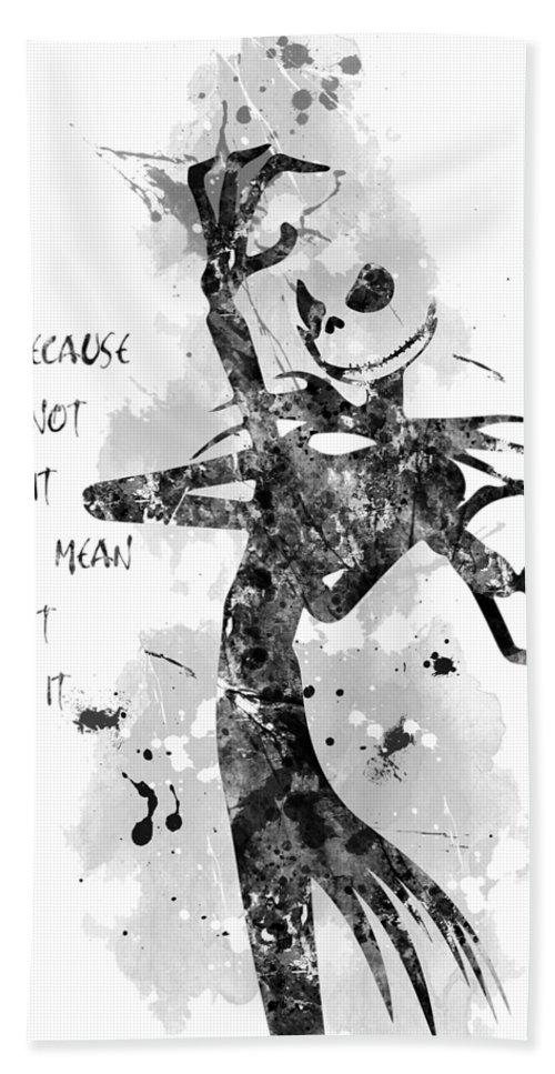 Nightmare Before Christmas Illustration.The Nightmare Before Christmas Jack Skellington Bath Towel