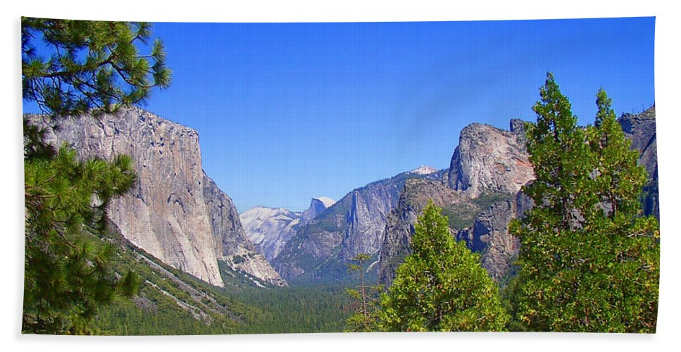 Yosemite Hand Towel featuring the photograph The Valley Of Inspiration-yosemite by Glenn McCarthy Art and Photography