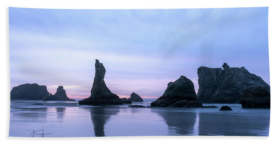 Bandon Beach Hand Towel featuring the photograph The Witches Hat by Jim Thompson