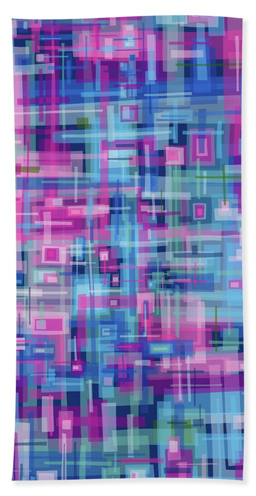 Nonobjective Bath Towel featuring the digital art Thought Patterns #4 by James Fryer