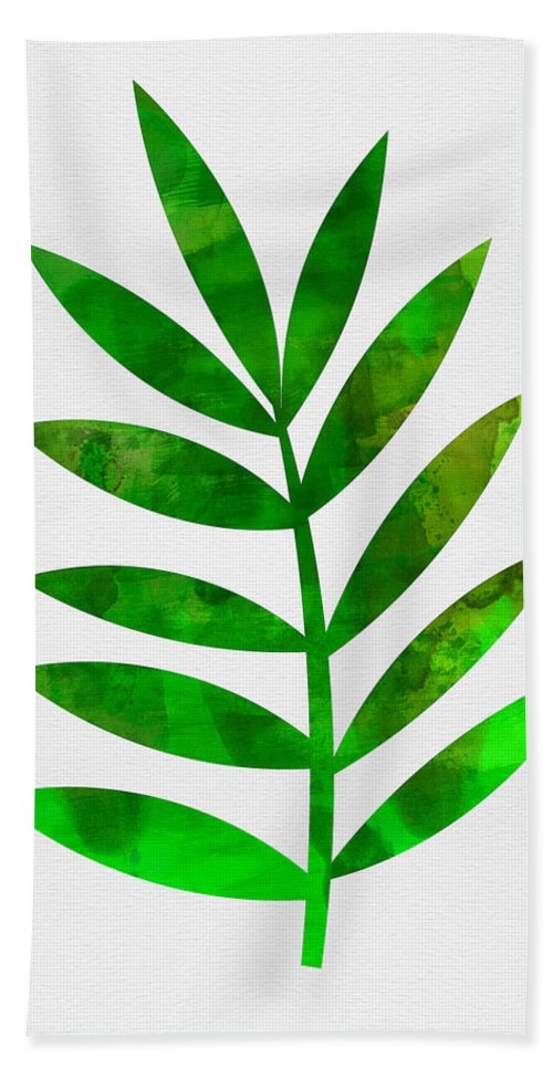 Tropical Leaf Bath Towel featuring the mixed media Tropical Leaf 3 by Naxart Studio