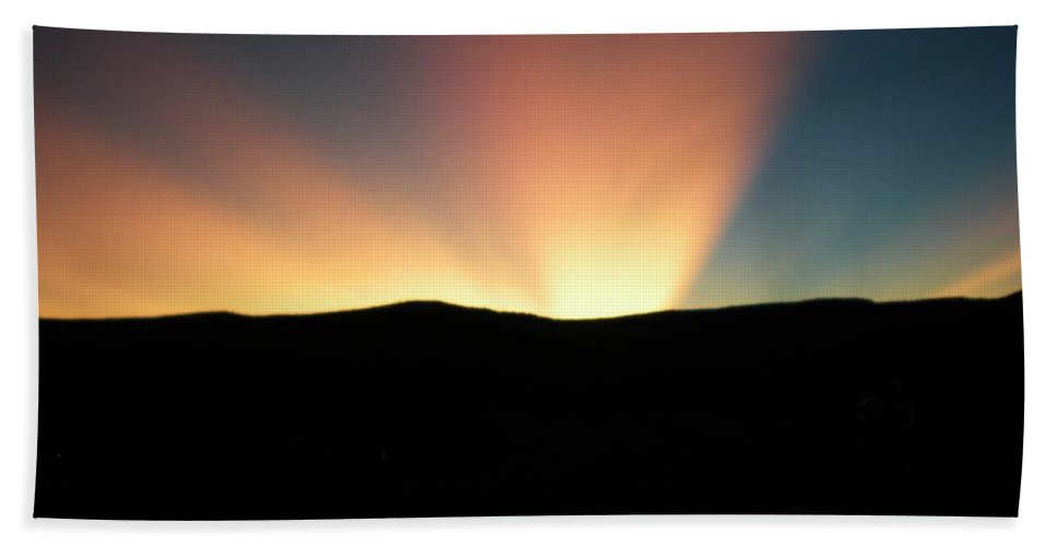 Summer Hand Towel featuring the photograph Unaltered New Mexico Sunrise by Scott Haley