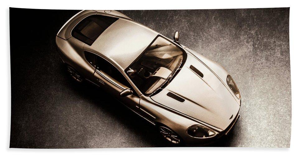 Aston Martin Bath Towel featuring the photograph Underground Racer by Jorgo Photography - Wall Art Gallery