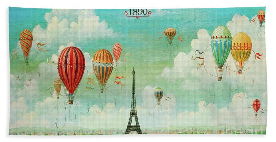 French Hot Air Balloon with Fleur de Lis French Decor Printable Digital Download for Iron on Transfer Fabric Pillows Tea Towels DT198