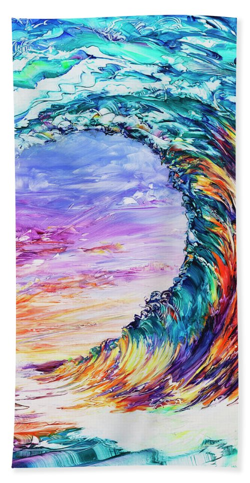 Hawaii Bath Towel featuring the painting Wave Of Promises by Susan Card