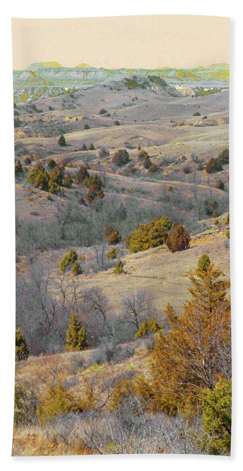 North Dakota Hand Towel featuring the photograph West Dakota Hills Reverie by Cris Fulton