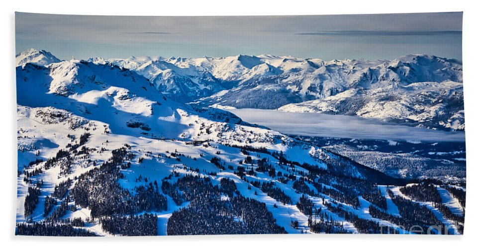 Whistler Hand Towel featuring the photograph Whistler In Winter by Bruce Block