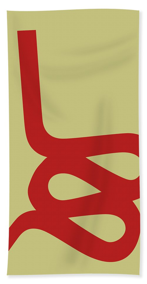 Hand Towel featuring the digital art Wiggle Side Chair I by Naxart Studio