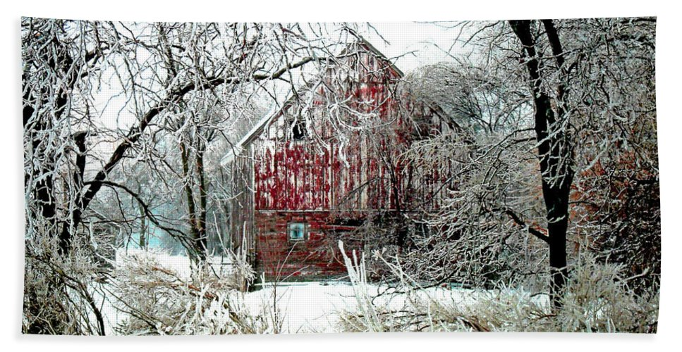 Christmas Hand Towel featuring the photograph Winter Wonderland by Julie Hamilton