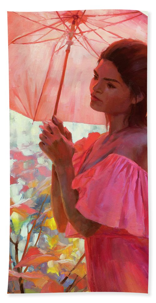 Woman Bath Towel featuring the painting Woodland Dreams by Steve Henderson
