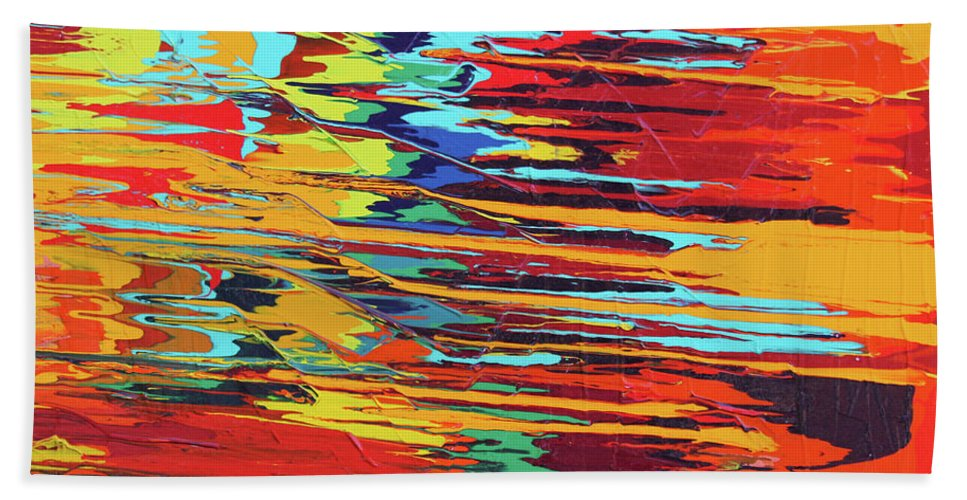 Fusionart Hand Towel featuring the painting Zap by Ralph White