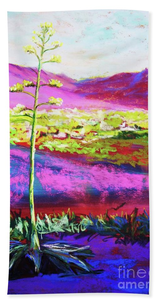 Agave Bath Towel featuring the painting Agave by Melinda Etzold