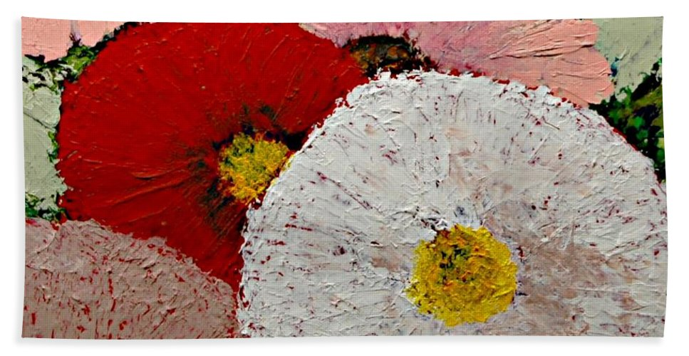 Landscape Hand Towel featuring the painting From the Garden by Allan P Friedlander
