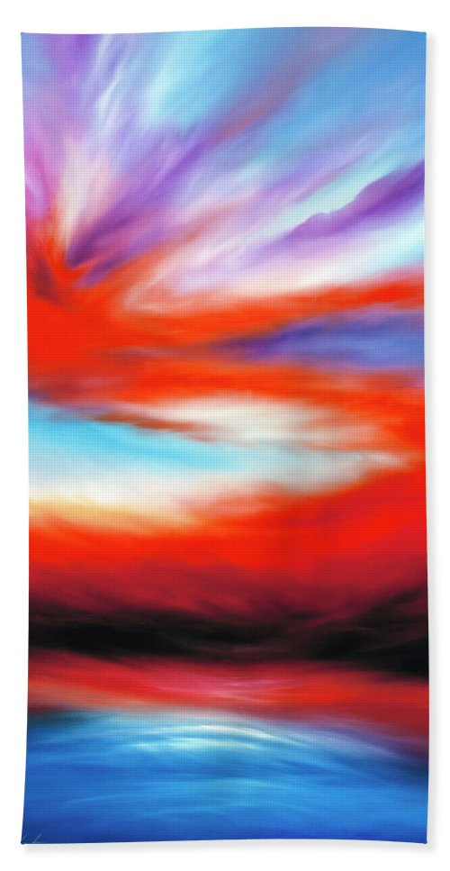 Nature Hand Towel featuring the painting Genesis II by James Christopher Hill