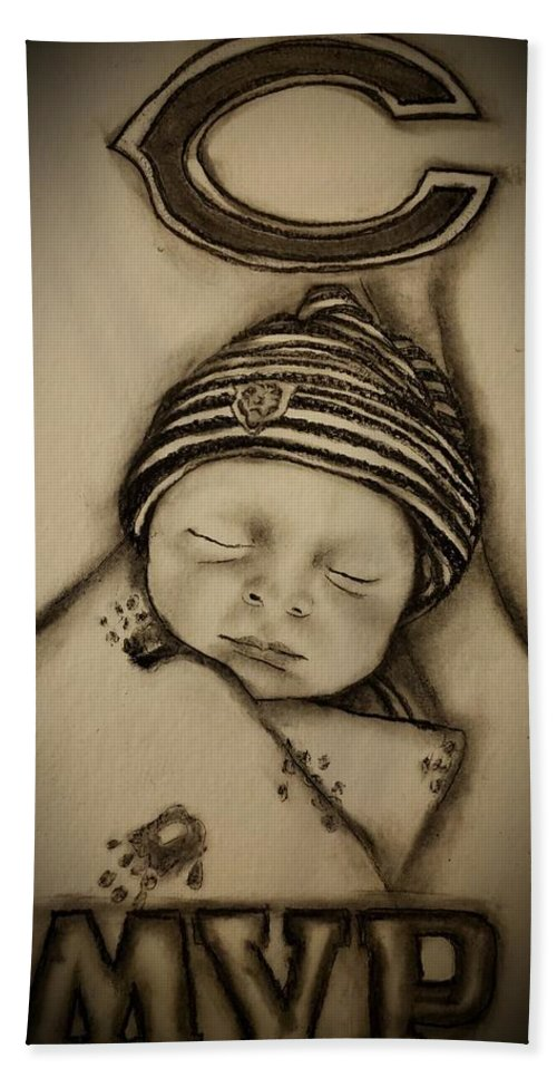 Baby Bath Towel featuring the drawing A Star is born by Glory Fraulein Wolfe