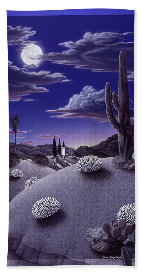 Desert Bath Sheet featuring the painting After the Rain by Snake Jagger