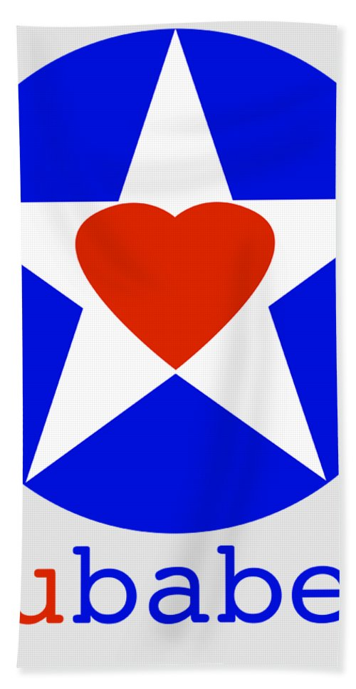 American Love Heart Bath Towel featuring the painting American Love by Charles Stuart