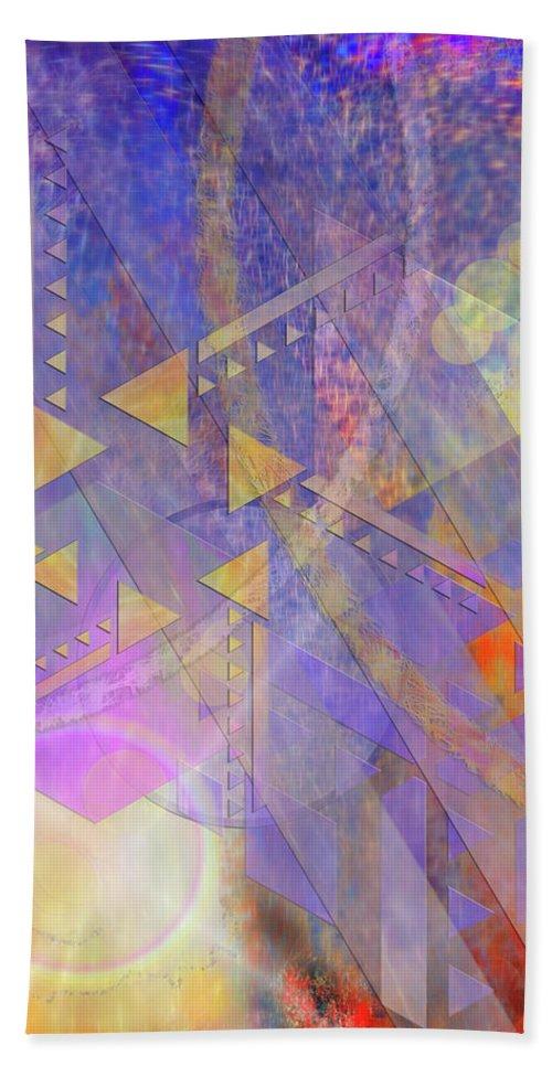 Aurora Aperture Hand Towel featuring the digital art Aurora Aperture by John Robert Beck