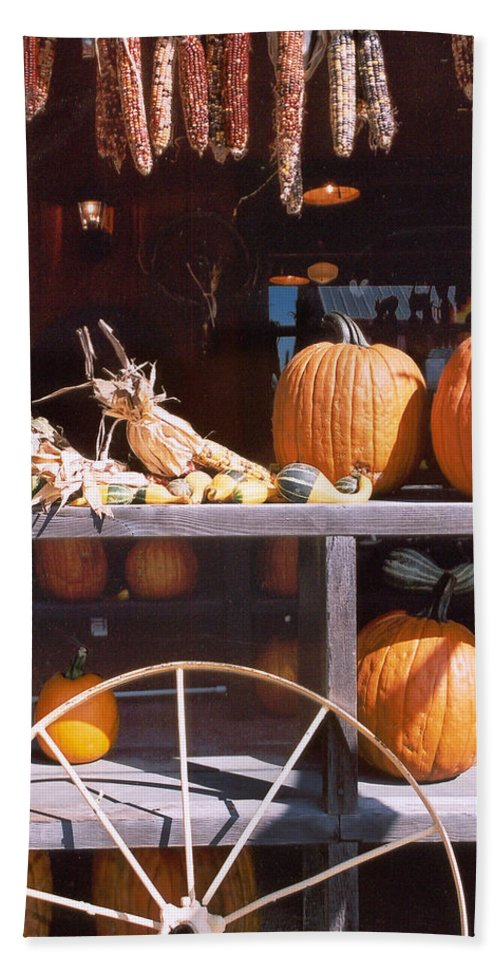 Still Life Hand Towel featuring the photograph Autumn Still Life by Steve Karol