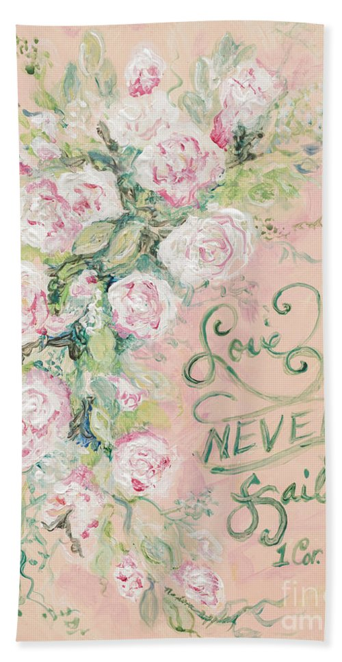 Beloved Hand Towel featuring the painting Beloved by Nadine Rippelmeyer
