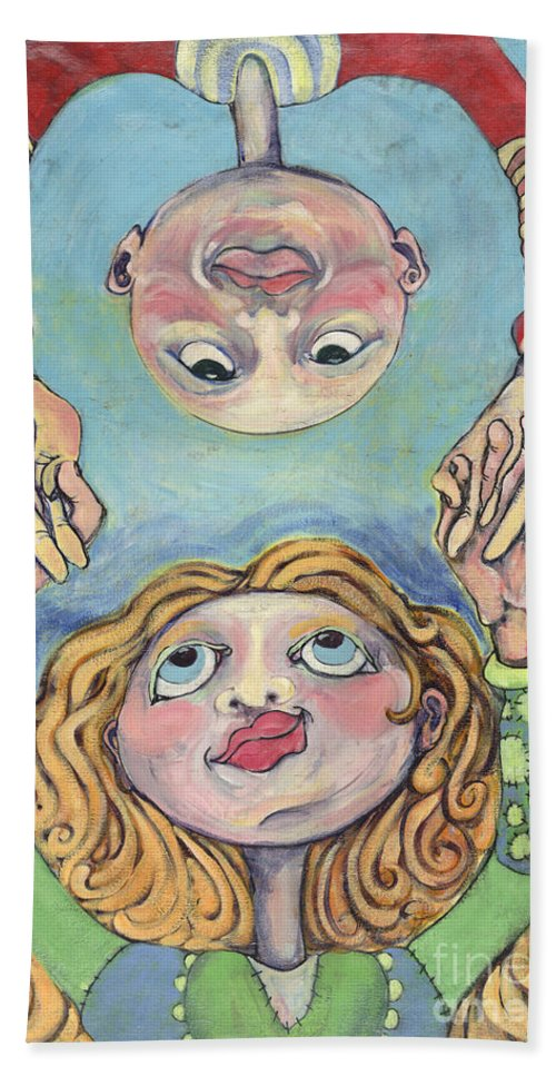 Painting Bath Sheet featuring the painting Best Friends by Michelle Spiziri