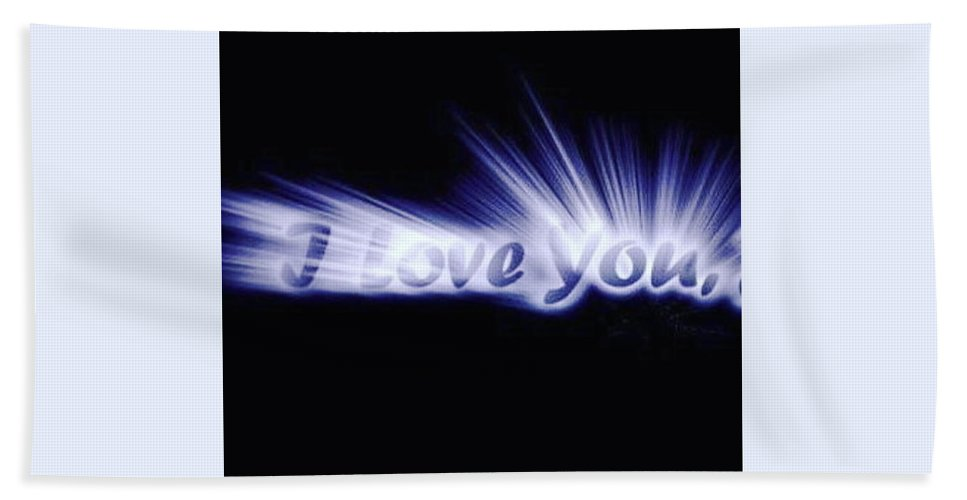 Love Bath Towel featuring the digital art Burst Of Love by Ariana Torralba