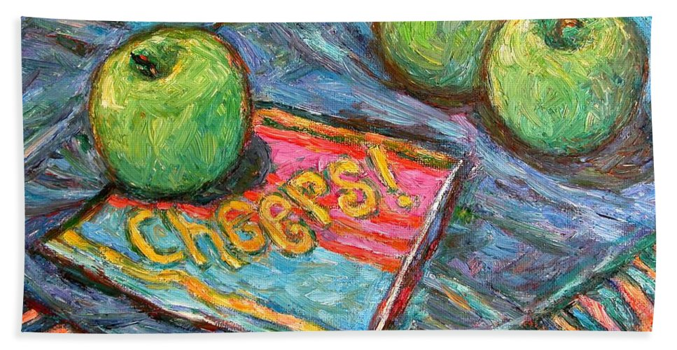 Still Life Bath Towel featuring the painting Cheers by Kendall Kessler