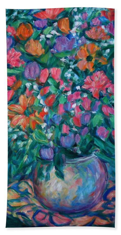 Floral Paintings Bath Towel featuring the painting Dream Bouquet by Kendall Kessler