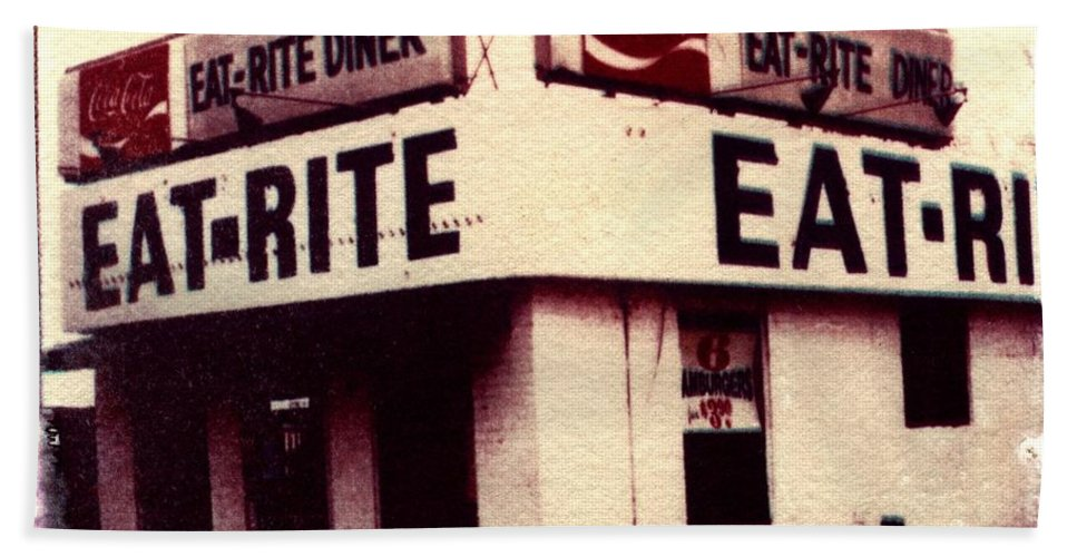 Polaroid Transfer Bath Towel featuring the photograph Eat Rite by Jane Linders