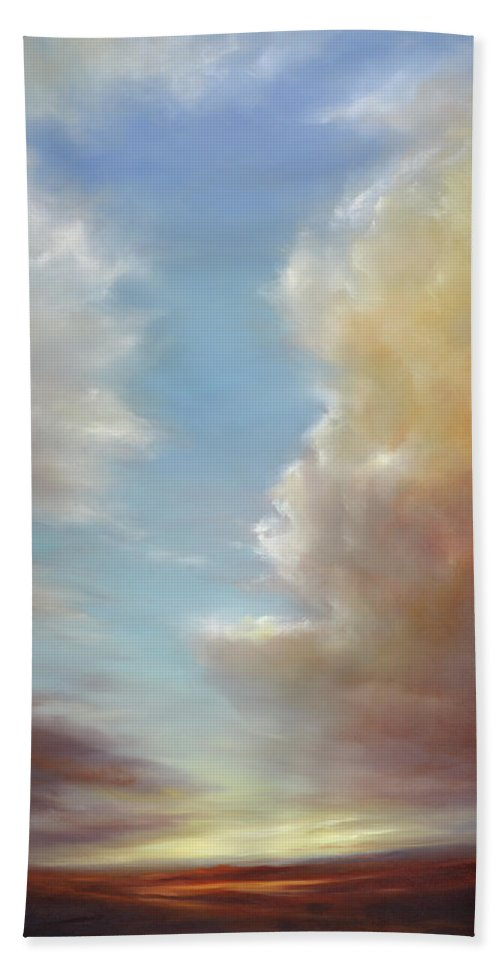 Landscape Hand Towel featuring the painting Enchanted by Cheryl Kline