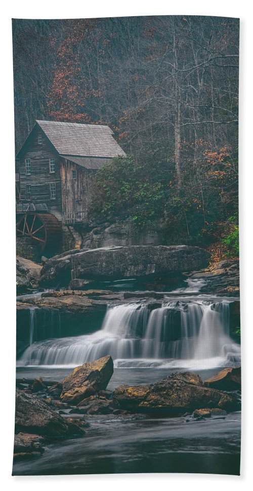 Moody Hand Towel featuring the photograph Faded Autumn by Darren White