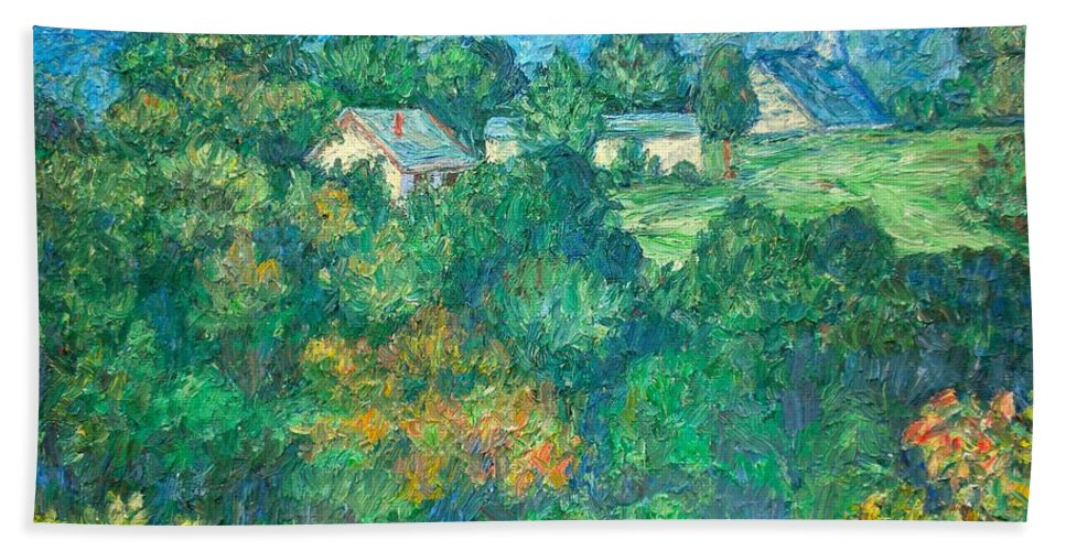Kendall Kessler Bath Sheet featuring the painting Fairlawn Ridge by Kendall Kessler