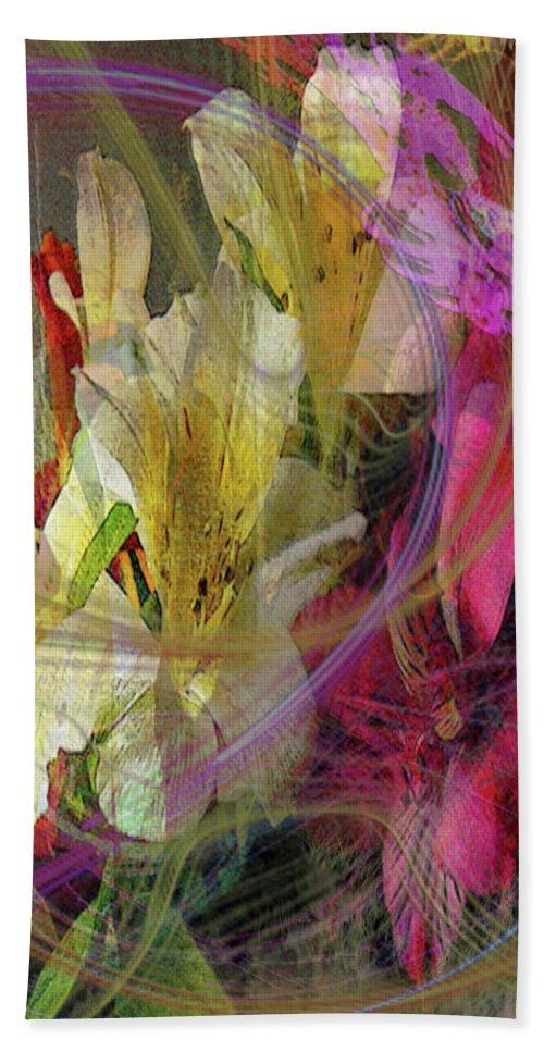 Floral Inspiration Bath Sheet featuring the digital art Floral Inspiration by John Robert Beck