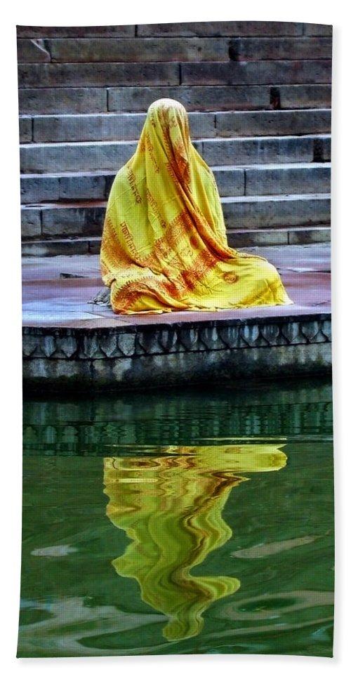 Meditate Bath Sheet featuring the photograph Ganga Dream by Skip Hunt