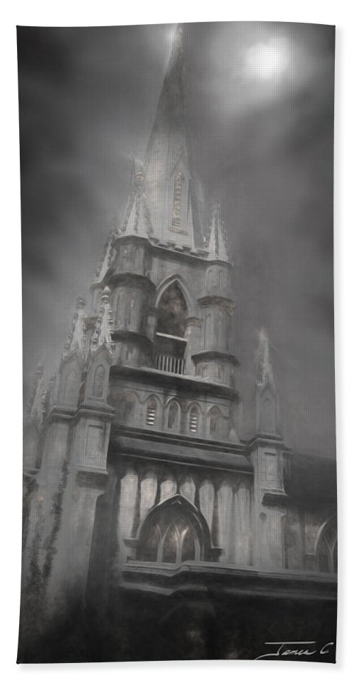 Castle Hand Towel featuring the photograph Grace Episcopal Church by James Christopher Hill