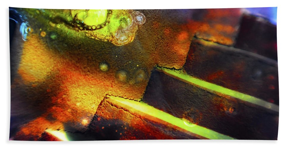Abstract Bath Sheet featuring the photograph Heart of Glass by Skip Hunt