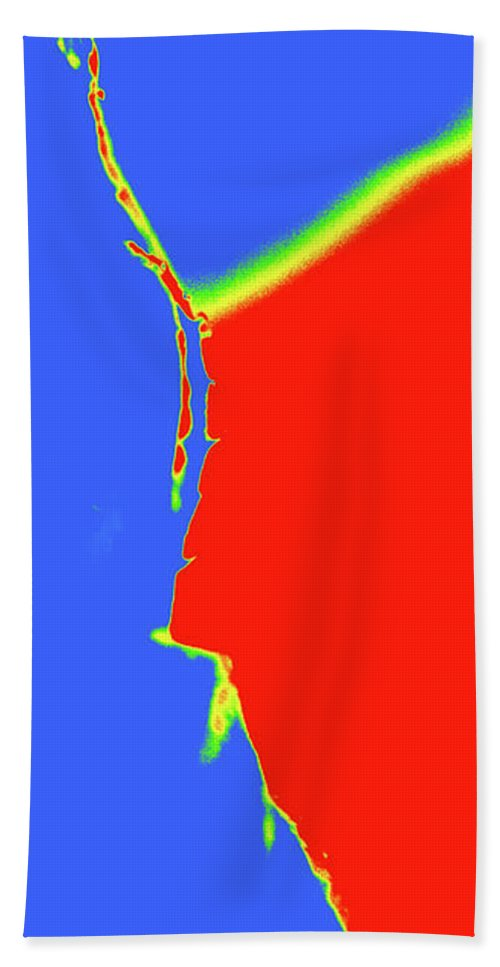 Abstract Hand Towel featuring the photograph Heat Map by Holly Morris