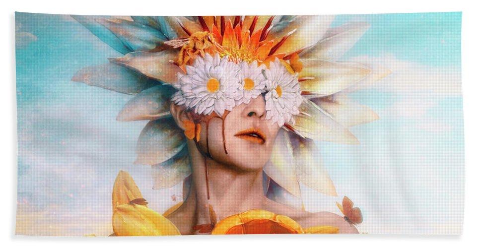 Surreal Hand Towel featuring the digital art Honey by Mario Sanchez Nevado