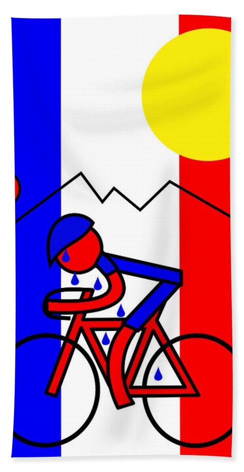 Hot In France Bath Towel featuring the mixed media Hot in France by Asbjorn Lonvig