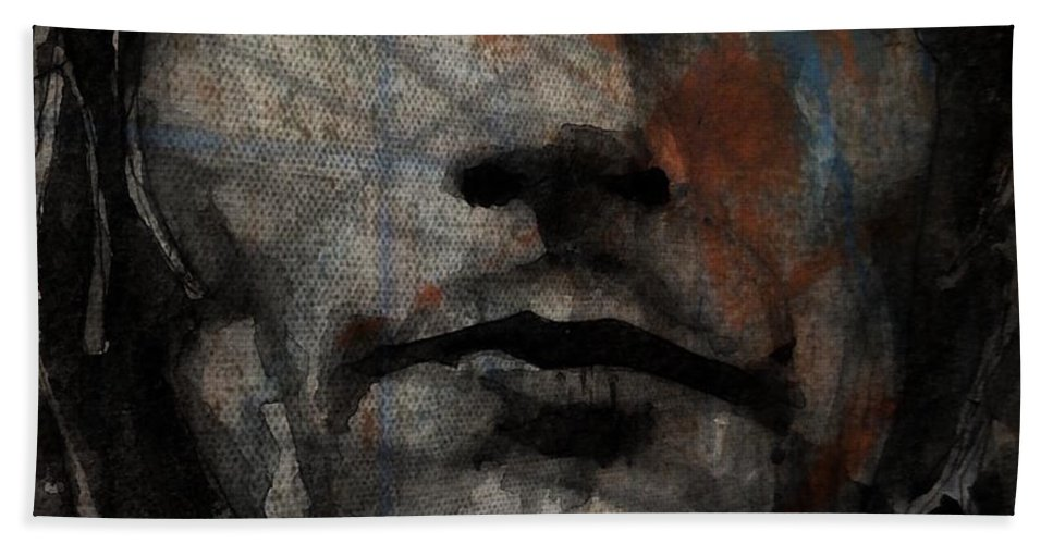 Rod Stewart Bath Towel featuring the painting I Was Only Joking by Paul Lovering