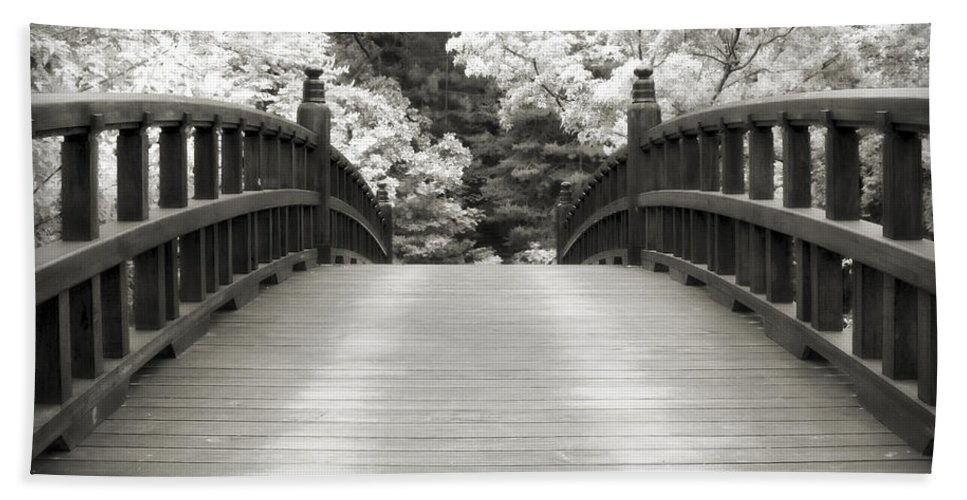 3scape Bath Sheet featuring the photograph Japanese Dream Infrared by Adam Romanowicz