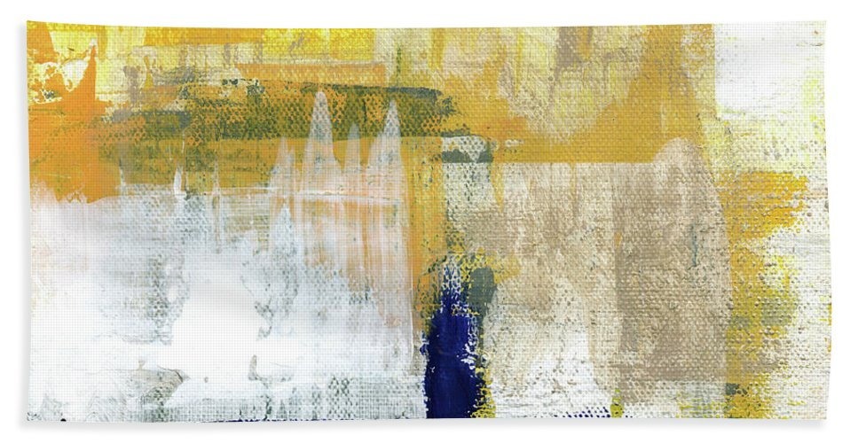 Abstract Bath Towel featuring the painting Light Of Day 4 by Linda Woods