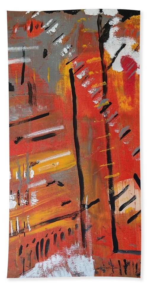 Colorado Bath Towel featuring the painting Looking Like October by Pam Roth O'Mara