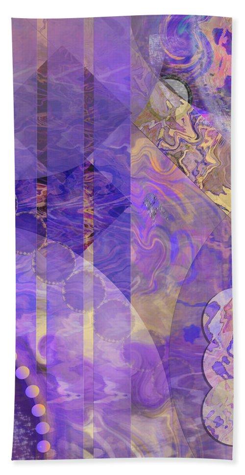 Lunar Impressions 2 Bath Towel featuring the digital art Lunar Impressions 2 by Studio B Prints