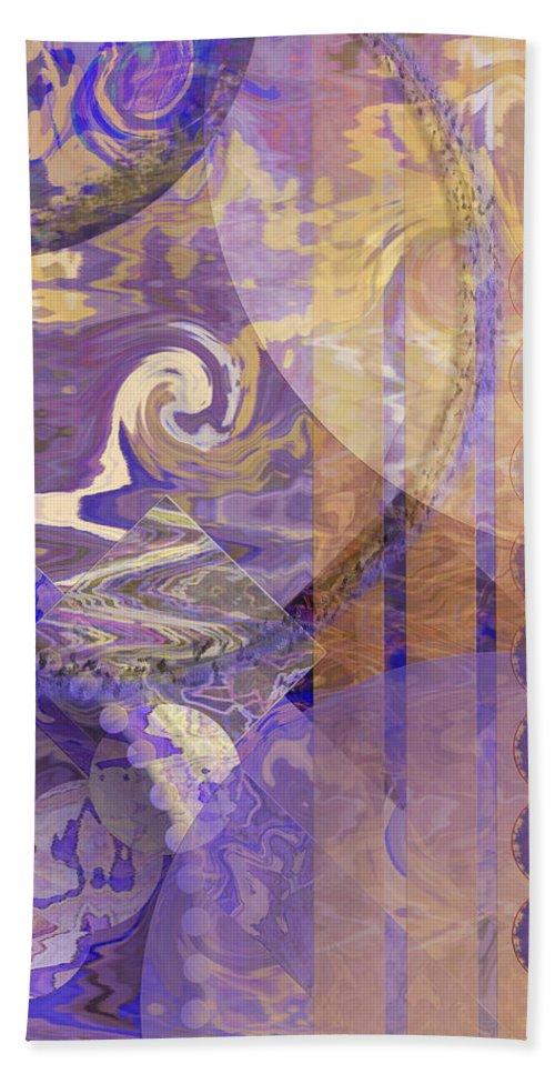 Lunar Impressions Hand Towel featuring the digital art Lunar Impressions by John Robert Beck